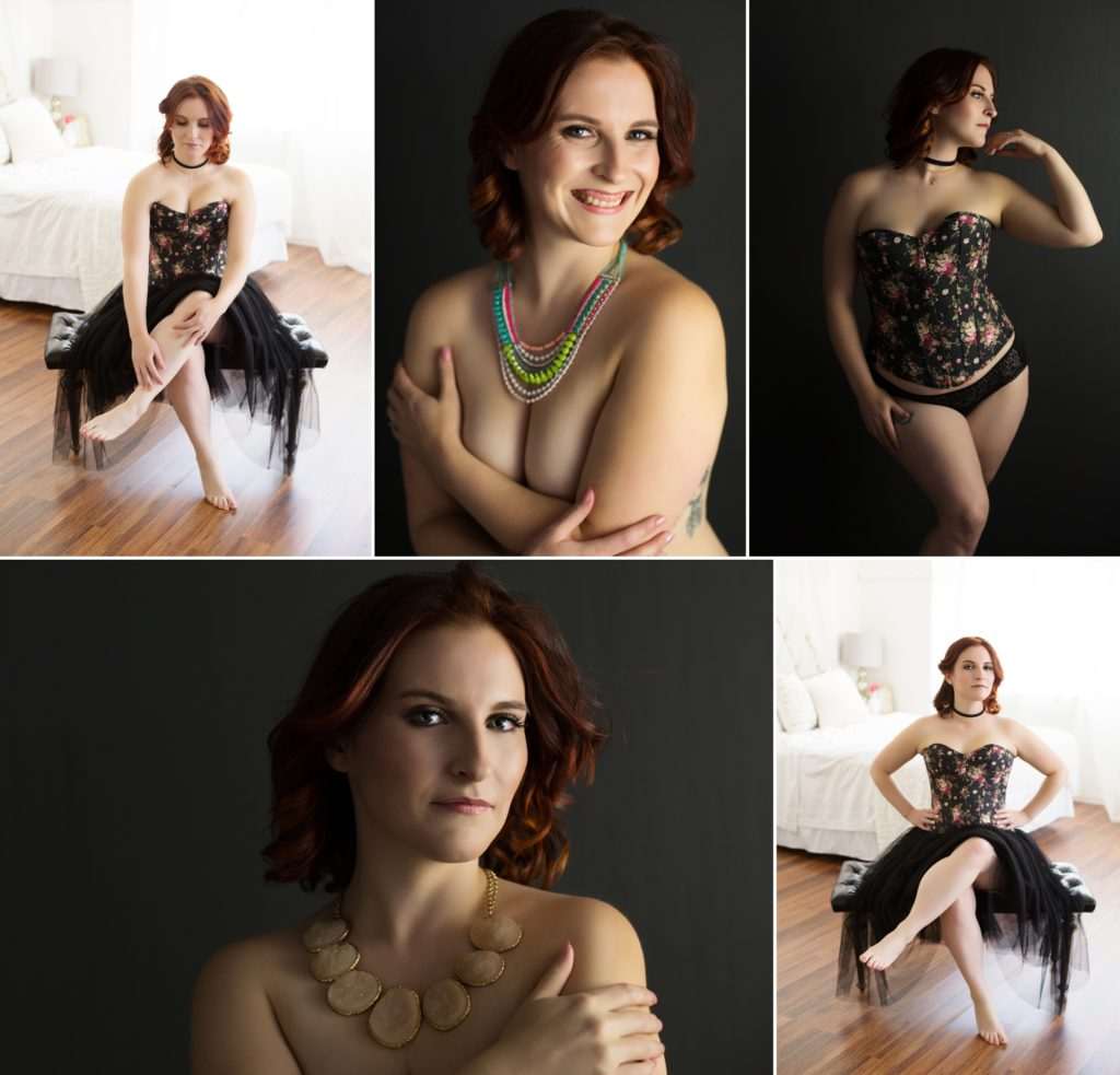 vintage corset, tulle skirt, topless