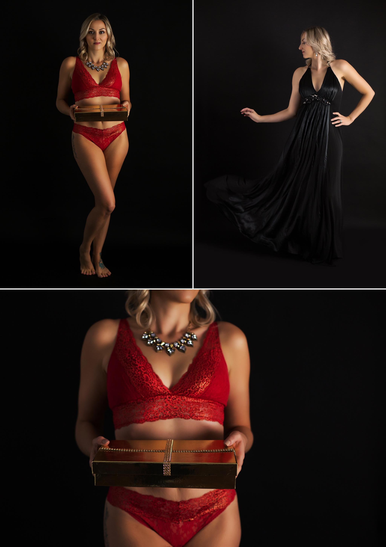 Boudoir photography, red lace lingerie, christmas gift, CT Boudoir, Sasha Dale photography