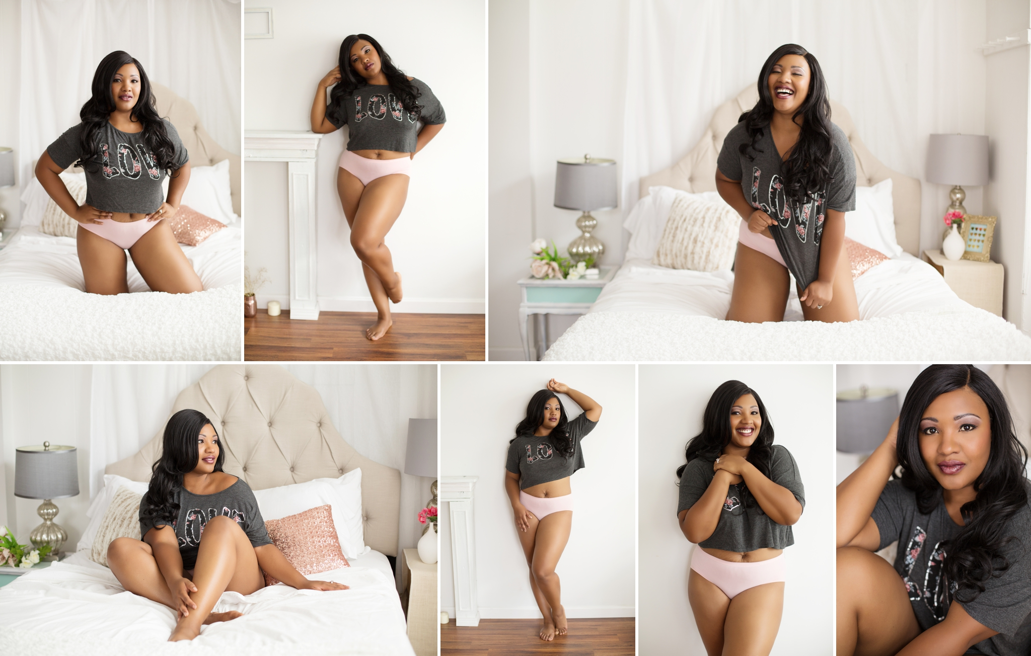 Sasha Dale Photography, boudoir portraits, curvy girls, LOVE, valentines day boudoir, fun, flirty
