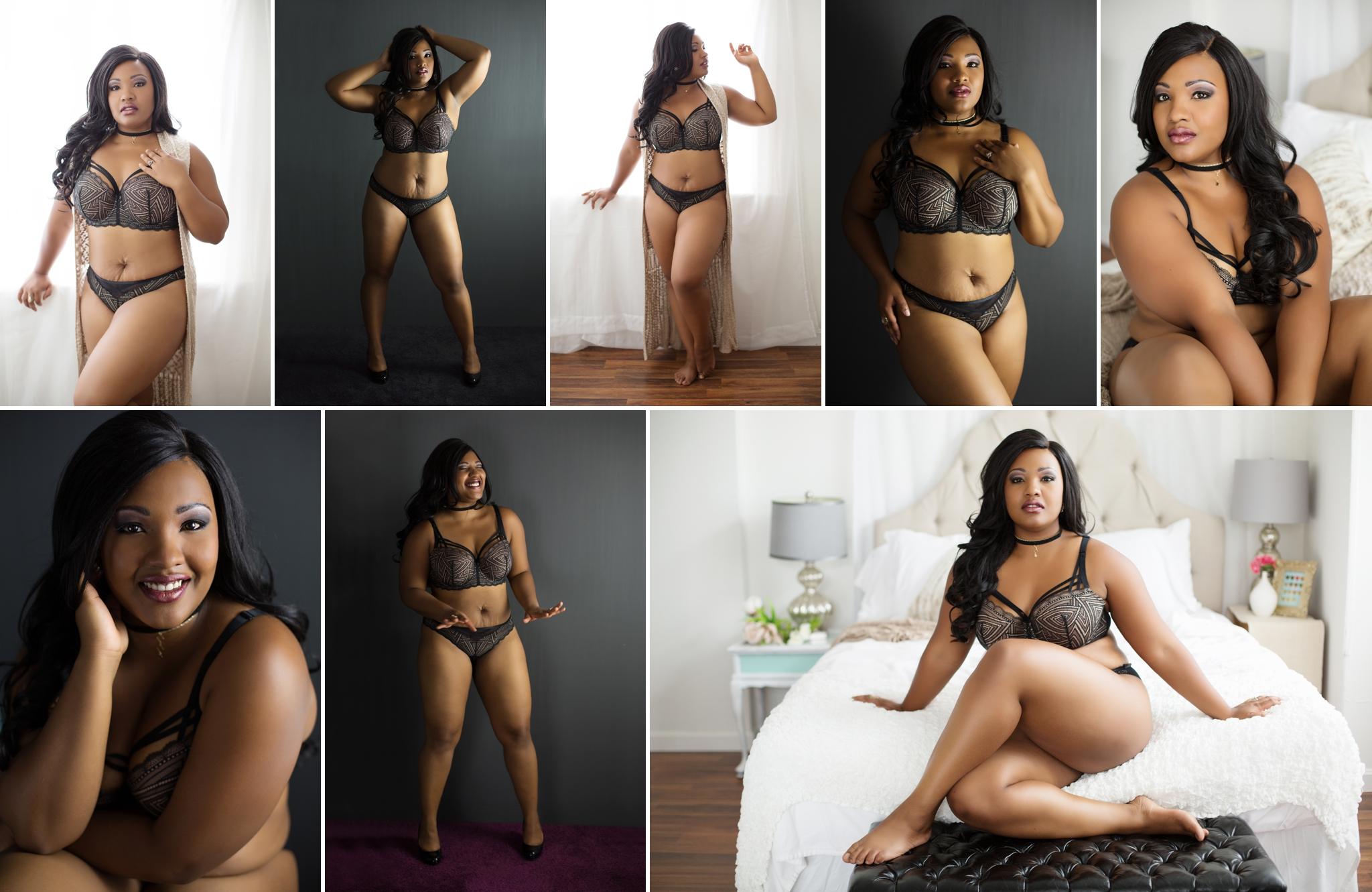 Sasha Dale Photography, boudoir portraits, curvy girls, Adore Me lingerie, knit kimono