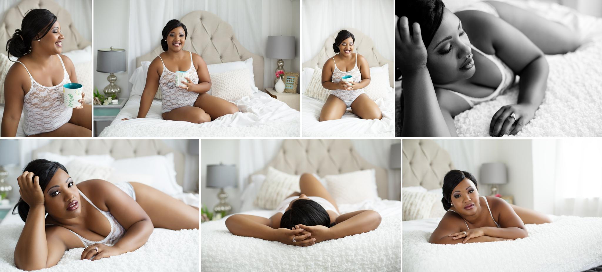 Sasha Dale Photography, boudoir portraits, curvy girls, white lace