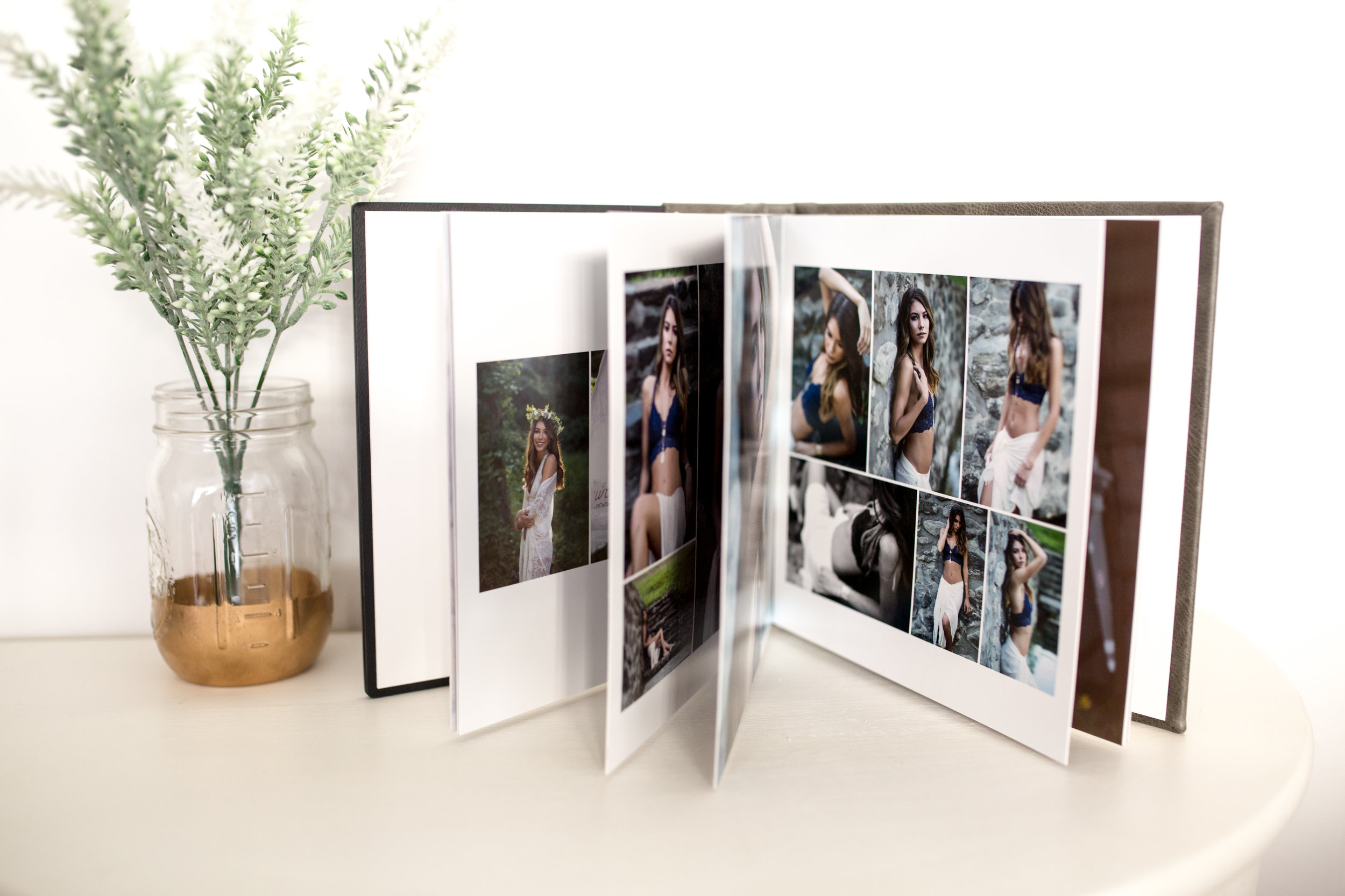 CRYSTAL ALBUM - Available in 3 sizes and fully customizable.Cover OptionsFull Wrap: Fabric wraps around (no cover image)Acrylic Cover: Partial fabric wrap with acrylic mounted cover image.Sizes:8x8 (20 Images)……………...…$129510x10 (30 Images)……………....$169512x12 (40 Images)…………….....$2195Album Add-On'sAdditional Spread (3 images)….$150.00/spread5x5 mini-duplicate book ……....$495