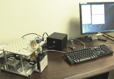 Fig. 4. Vibr-4 spectrometer. Software for one touch button  operation.