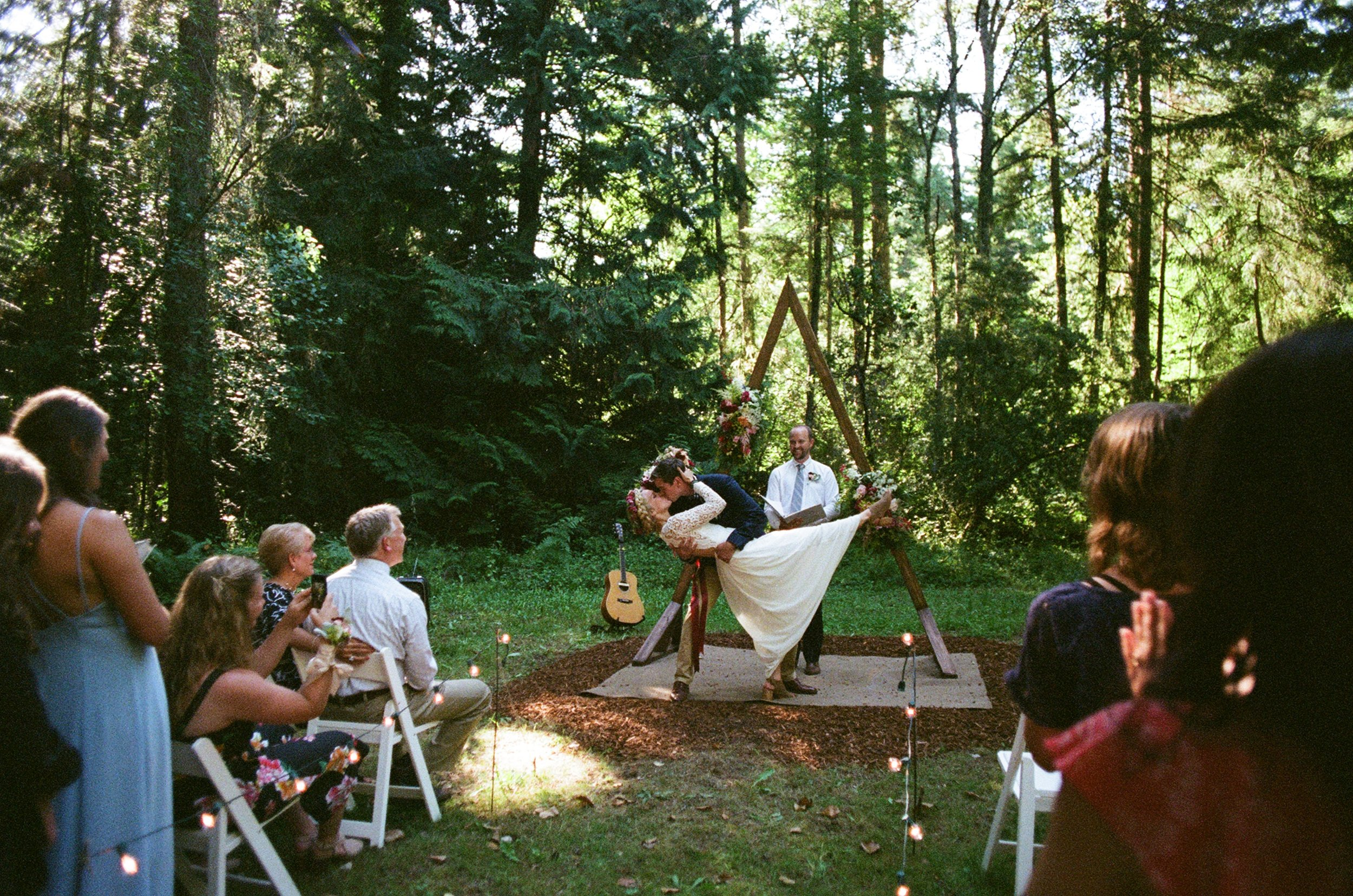 Our second ceremony/reception in Port Townsend