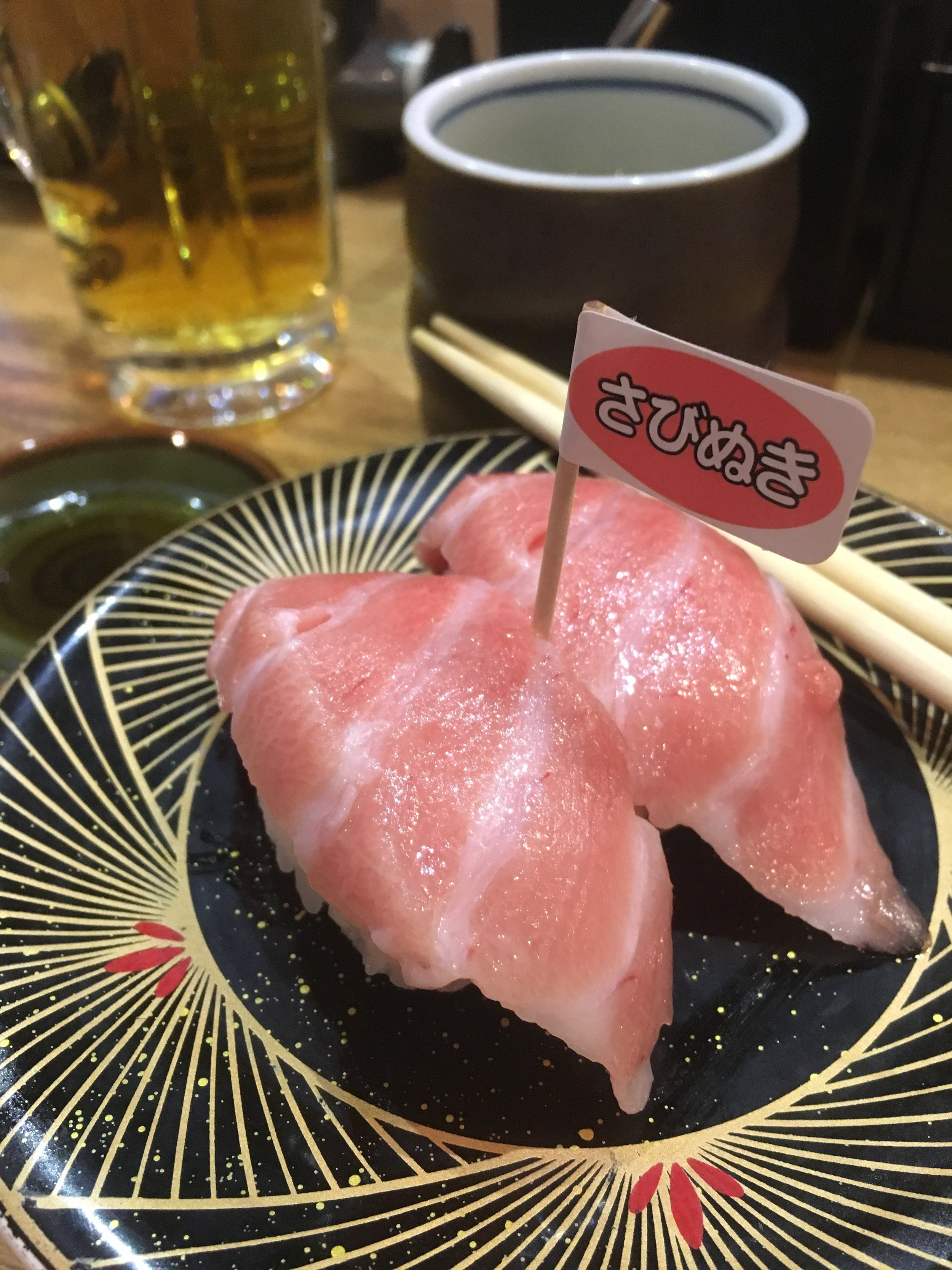 Fatty tuna from our favorite sushi joint