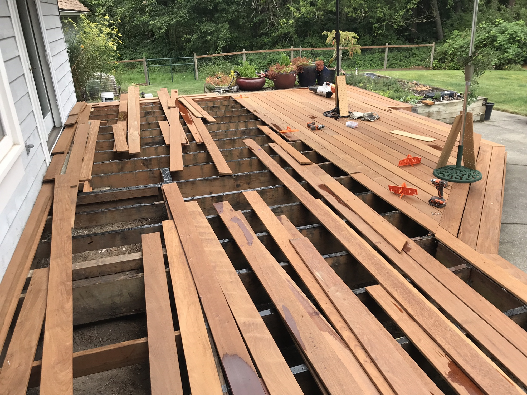 Deck build in progress