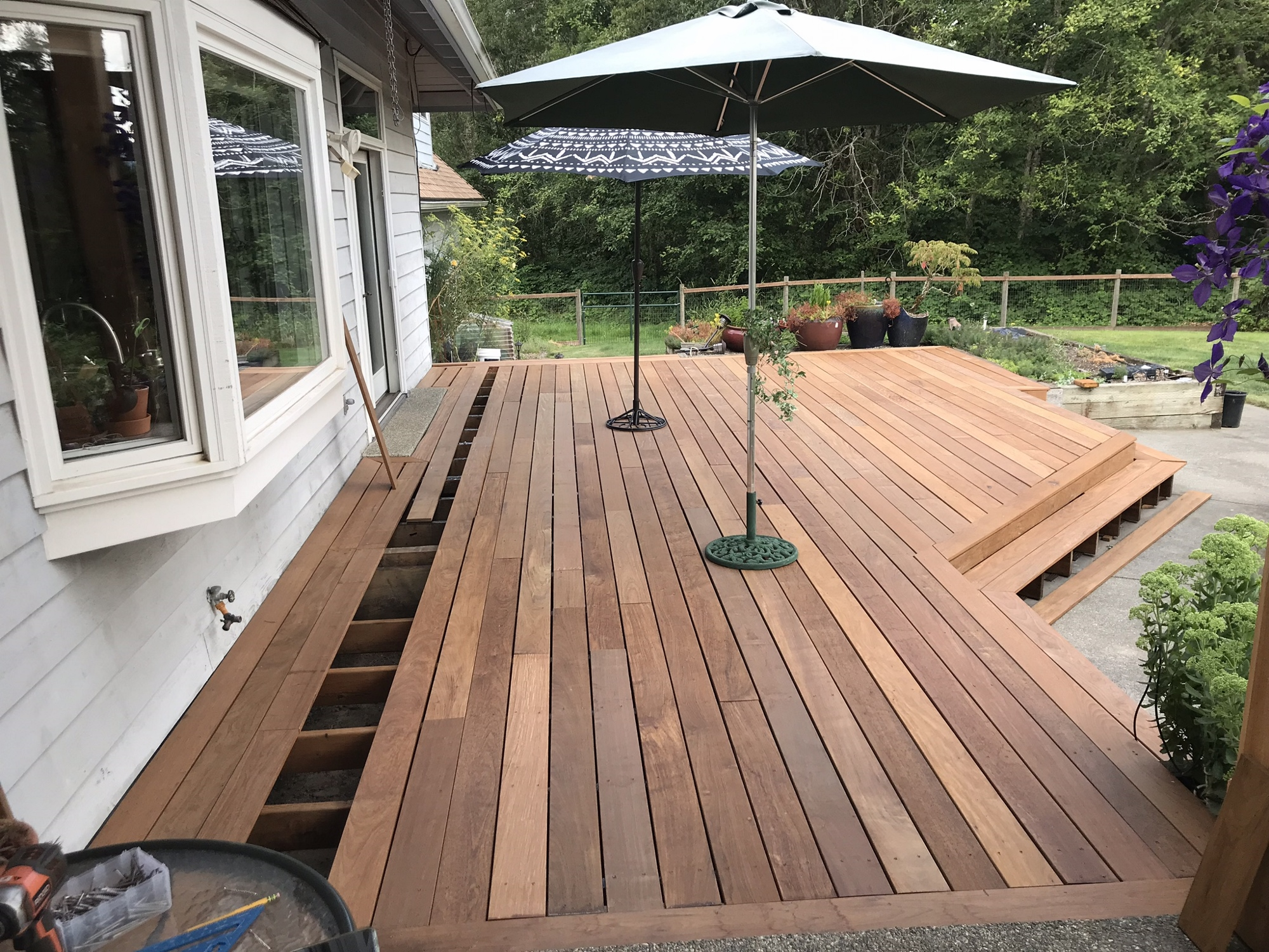 Deck almost complete!