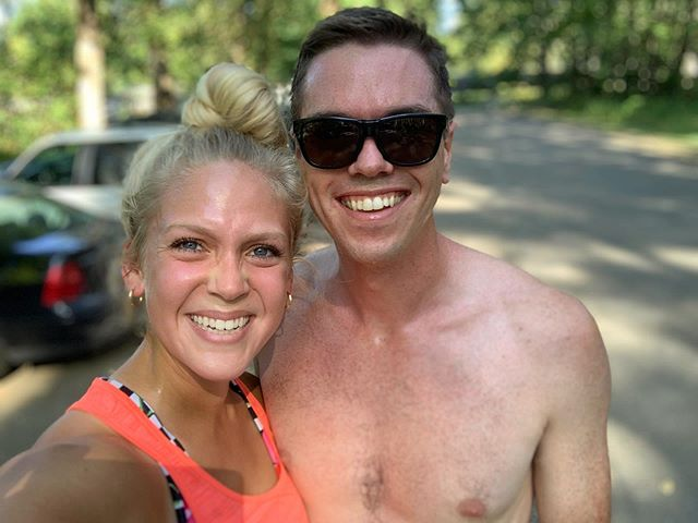 Hey! We finally blogged. It seems every 3 weeks is about the right about of time between blogging days for us 🤣 first up, week 53: the week we drove from Canada back to Washington. We're so happy to be back home for the month of August! This photo from an incredibly sweaty run along our local trails with a dip in the river right after 🥰 check out the new blog post via the link in our bio!