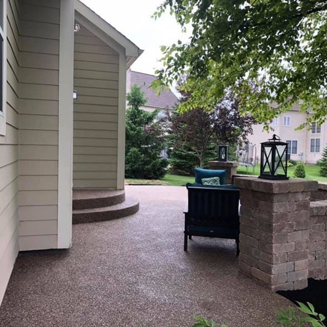 This family had a bad experience the first go around with their expose aggregate patio and a different contractor/company. Glad we could jump in get their back patio dream back on track and they could actually use it this weekend !!!! Call us at 614-218-6864 and we can help you with your backyard oasis as well !!!