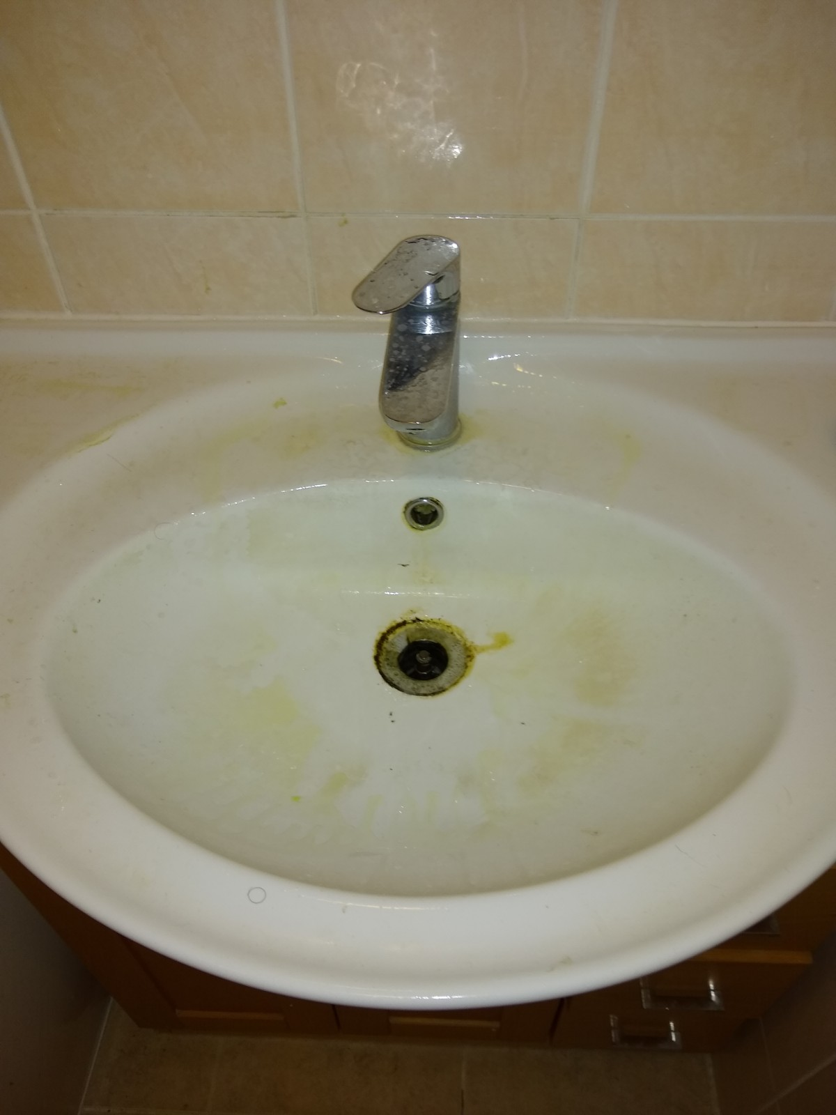 Sink before clean