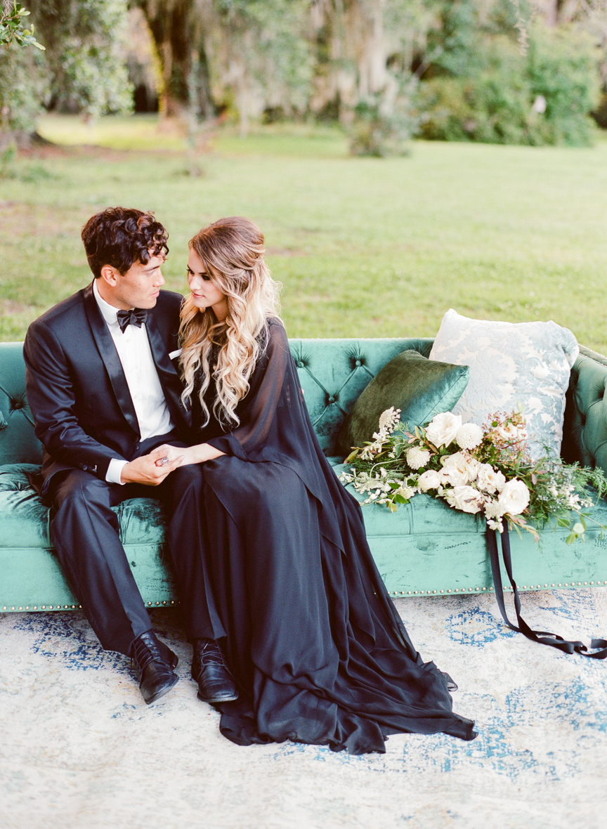 Dark and Moody Fall Wedding Inspiration | Charleston Wedding | Southern Wedding | Fall Wedding Ideas | Fall Bridal Ideas | Halloween Bride | Halloween Wedding Ideas | Lisa Blume Photography | Cheers Darling Planning | Paprika Southern