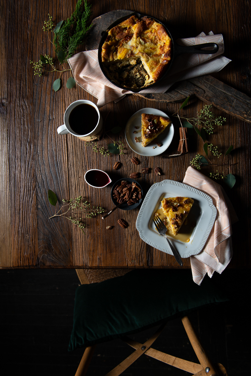 Holiday Fete Recipes | Holiday Recipes | Christmas Recipes | Festive Recipes | Winter Recipes | Food Styling | Food Photography | Food and Prop Styling | Food Styling Ideas | Food Photography Ideas| Vegetarian Holiday Recipes | Holiday Ideas | French Toast Casserole | Paprika Southern