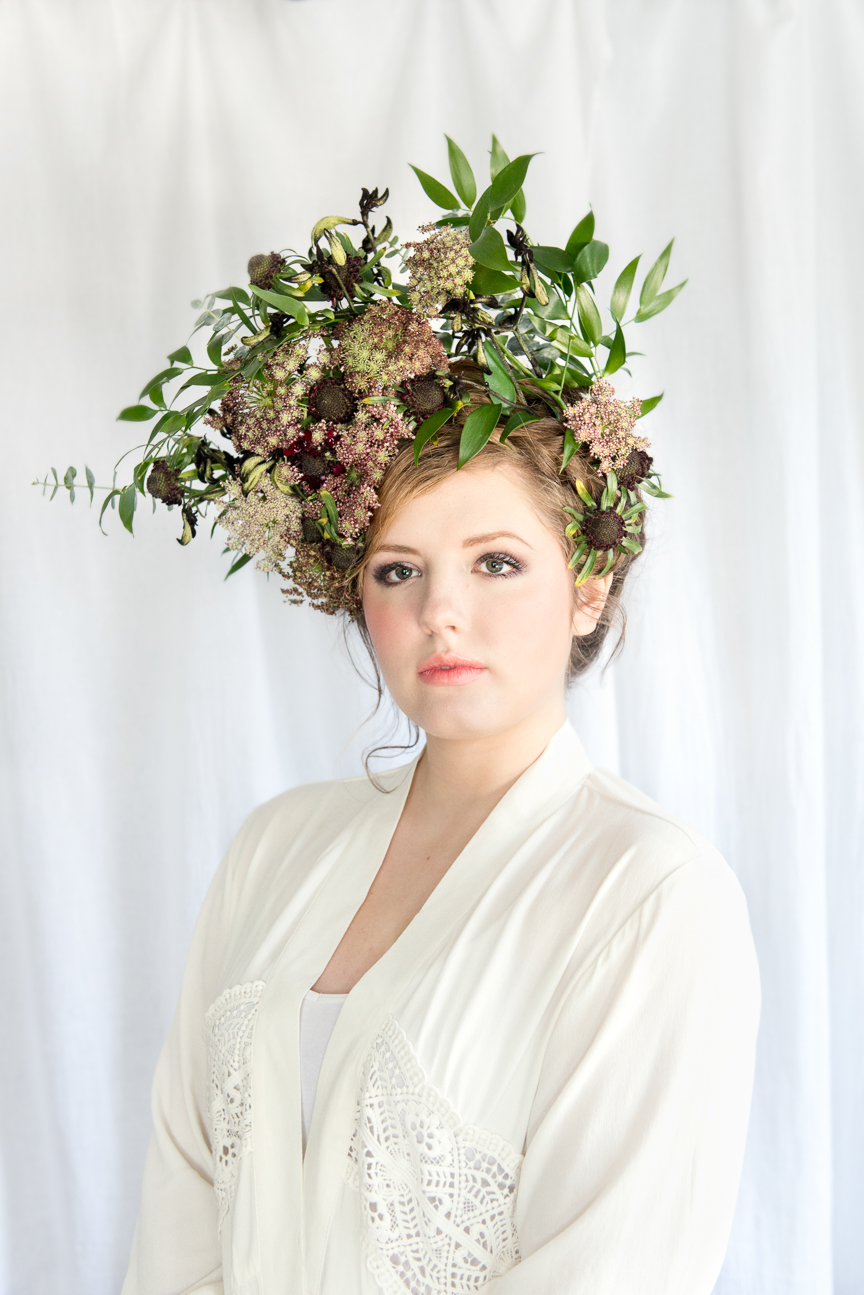 Botanic Spirit | Floral Hair Masterpieces with Wildflower Gypsy | Hair Florals | Spring Hair | Flower Crown | Floral Crown | Free Spirit | Spring Beauty | Editorial Hair | Editorial Hair Ideas | Spring Greenery | Kangaroo Paws | Chocolate Queen Anne's Lace | Paprika Southern