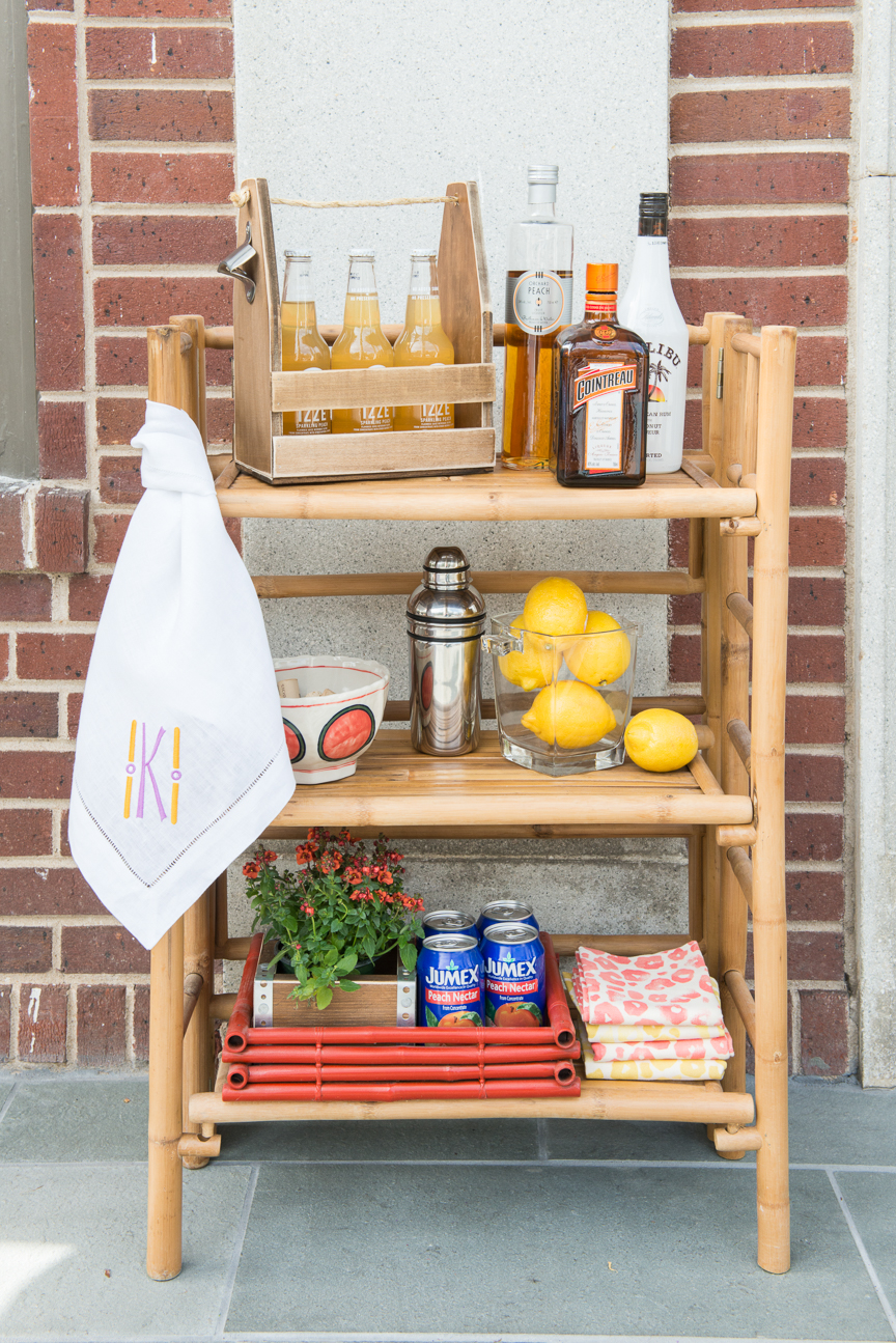 How to Update Your Porch for Spring | Front Porch | Front Porch Refresh | Patio Ideas | Outdoor Entertaining | Patio Refresh | Southern Porch | Colorful Porch Ideas | Porch Ideas for Spring | Porch Decorating Ideas | Bar Cart | Outdoor Bar | Bar Ideas | Spring Entertaining Ideas | Paprika Southern