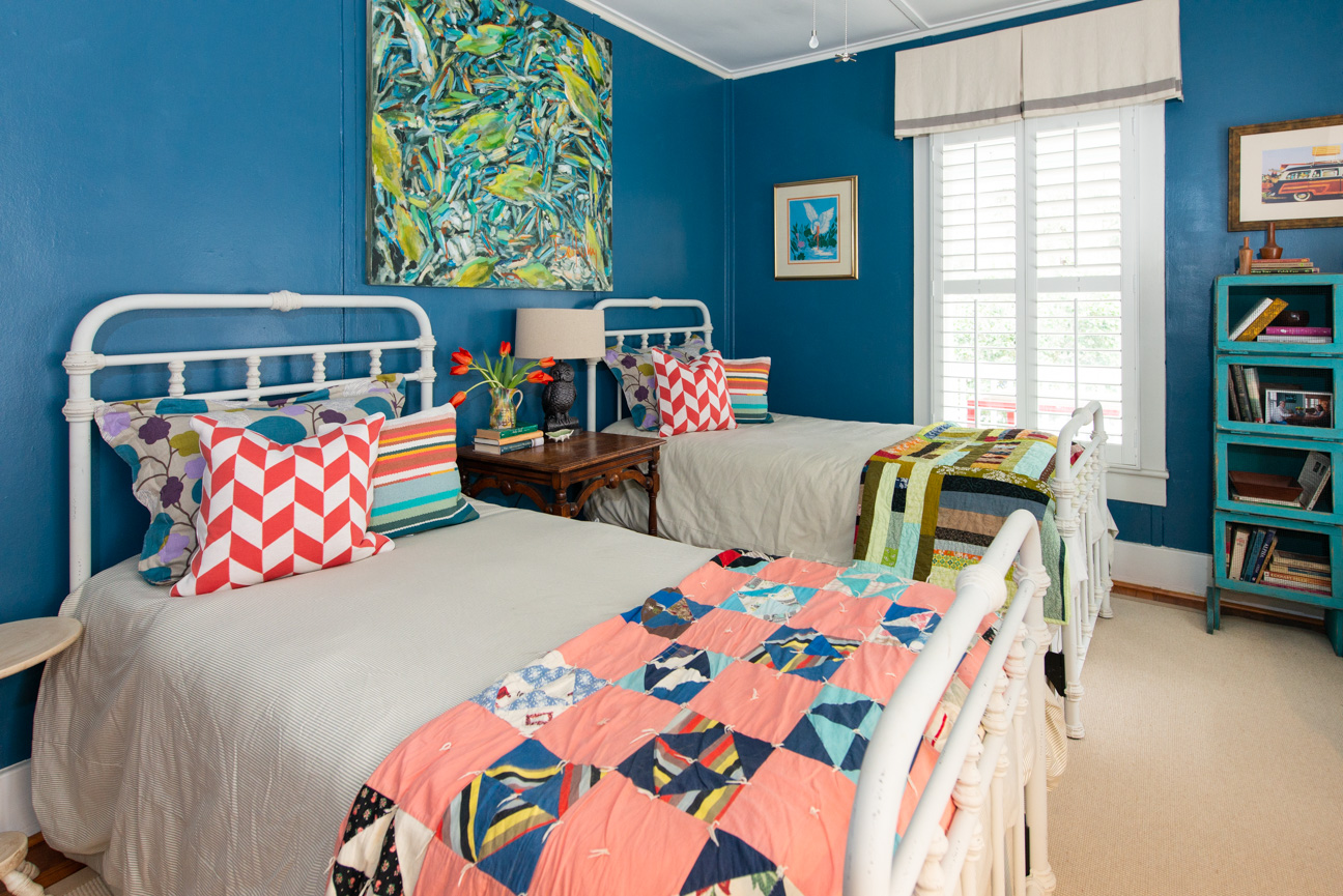 Get the Look | Southern Spring Interiors | Complementary Color Scheme | Blue Bedroom | Blue and Orange Bedroom | Guest Room Decor | Guest Room Ideas | Colorful Guest Room | Color Strategies for Interiors | Colorful Interior | Southern Home Decor | Bold Colorful Home | Paprika Southern