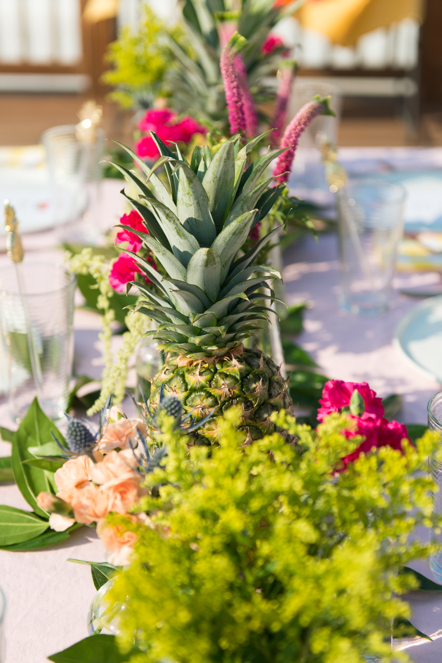 Summer Tablescape | Tropical Summer Tablescape | Summer Tablescape Bright Colors | Colorful Summer Table | Colorful Summer Centerpiece | Outdoor Dining | Summer Table Ideas | Summer Party Ideas | Paprika Southern
