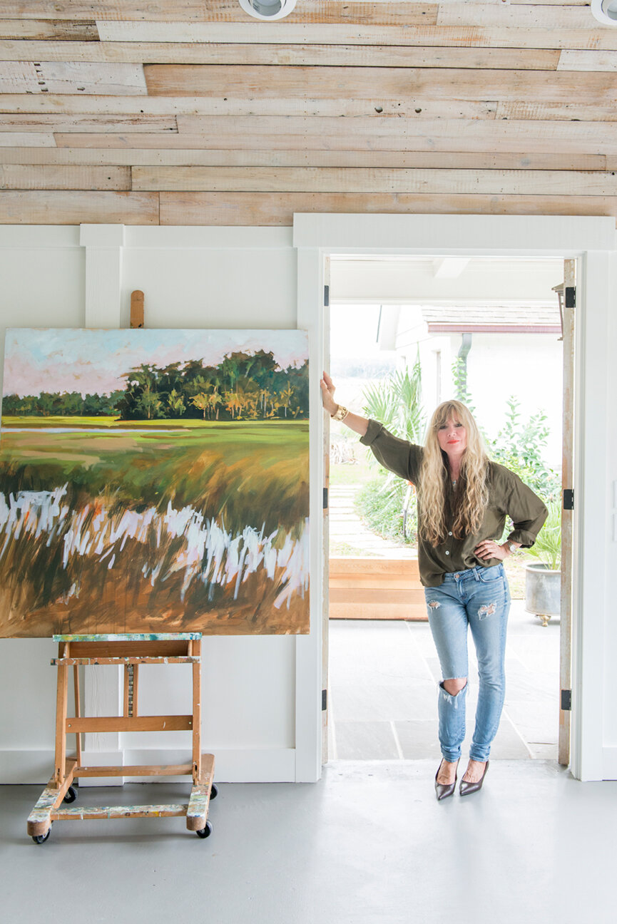 Soulful and Storied   At Home with Bellamy Murphy   Southern Home   Home Decor   Coastal Home Decor   Interior   Interior Inspiration   Artist Studio   Studio Ideas   Home Decor Ideas   Interior Decor   Paprika Southern