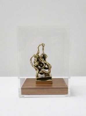Infinitude High-Polished Bronze, Walnut, and Acrylic 7 1/2 × 5 1/2 × 5 1/2 in; 19.1 × 14 × 14 cm Infinitude Edition 2017