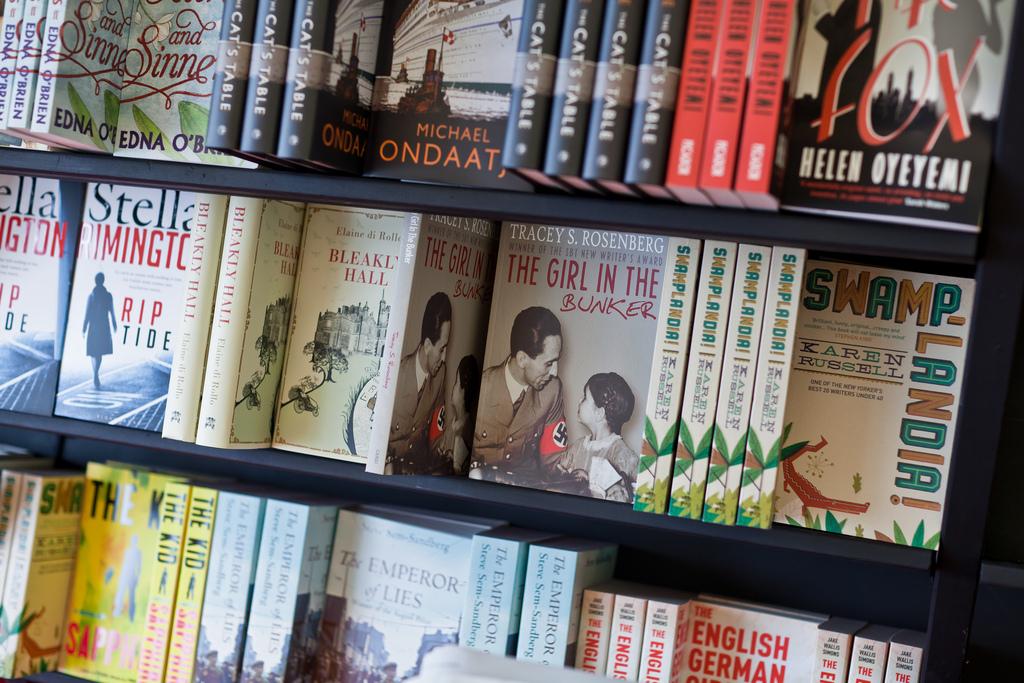 The Girl in the Bunker on the shelves of the Edinburgh International Book Festival. Photo credit:  Chris Scott