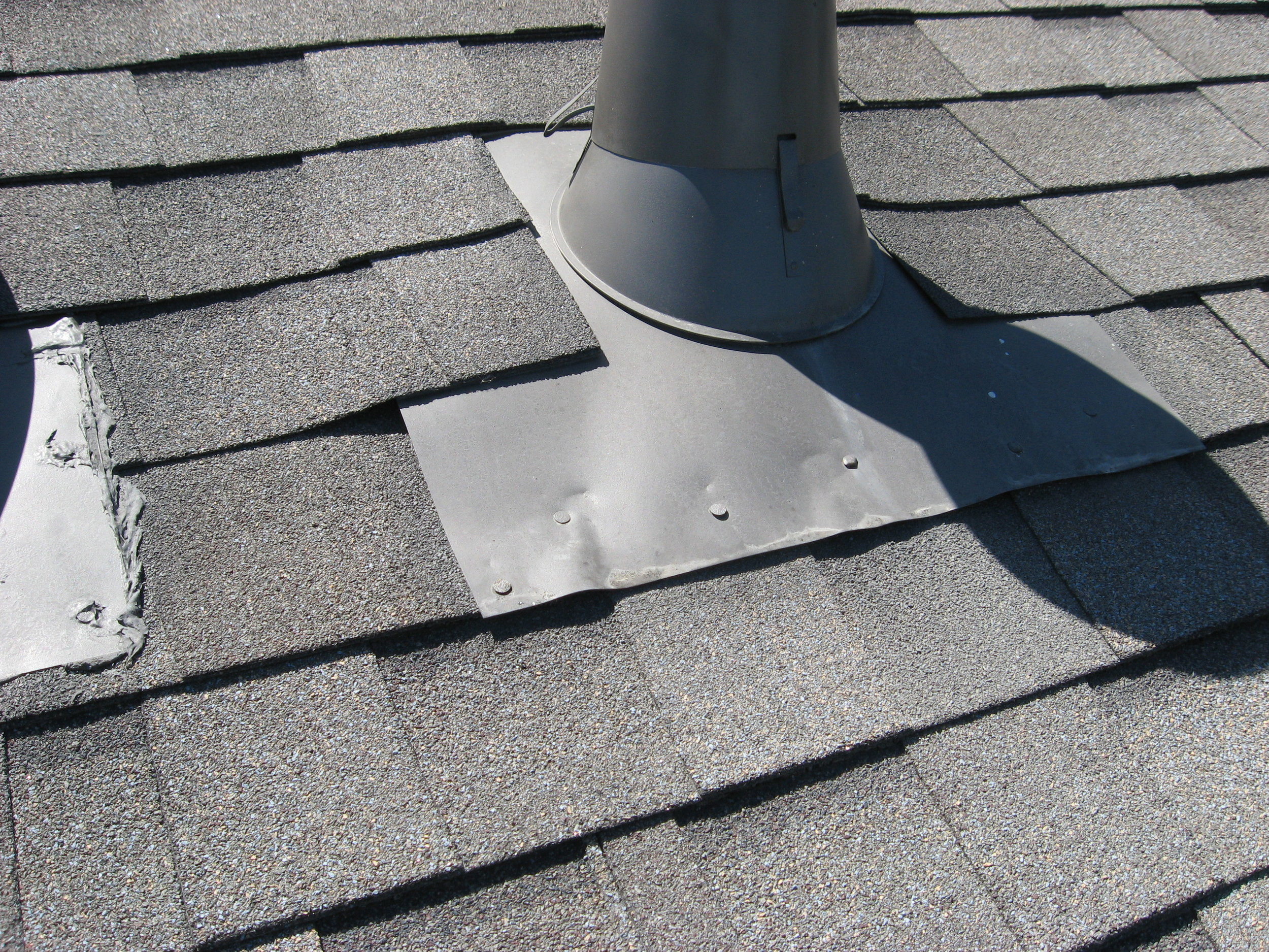 Poorly Installed Roof Vent