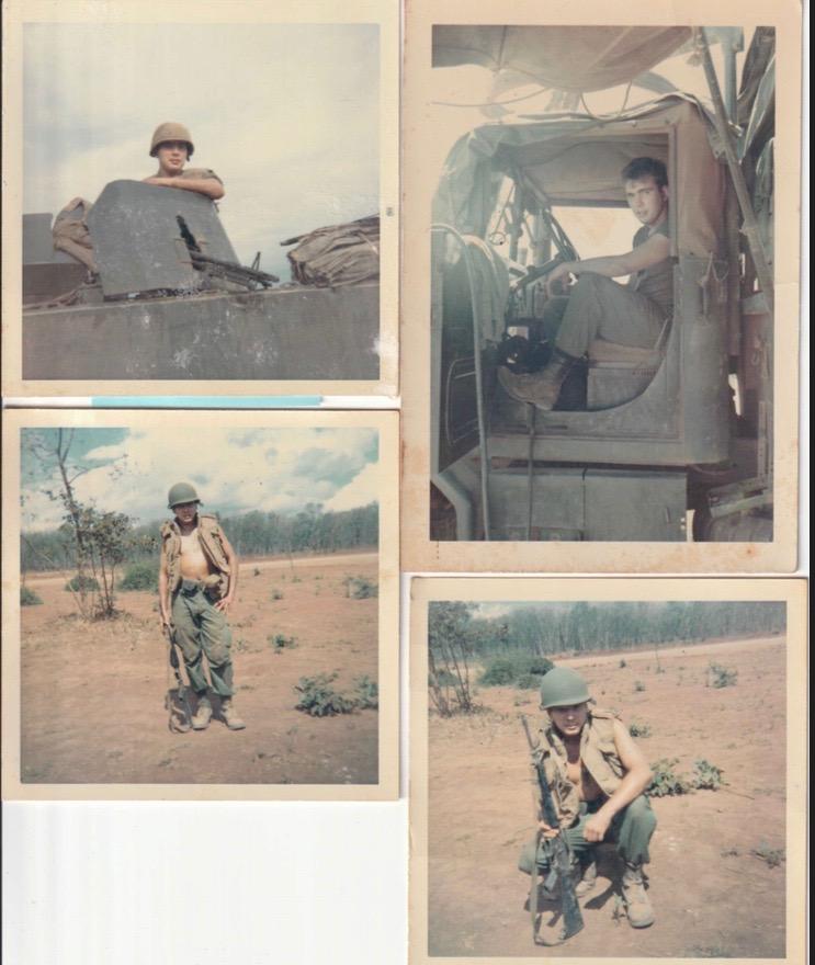Gregory Cook in Vietnam. Machine gunner. Double Purple heart.