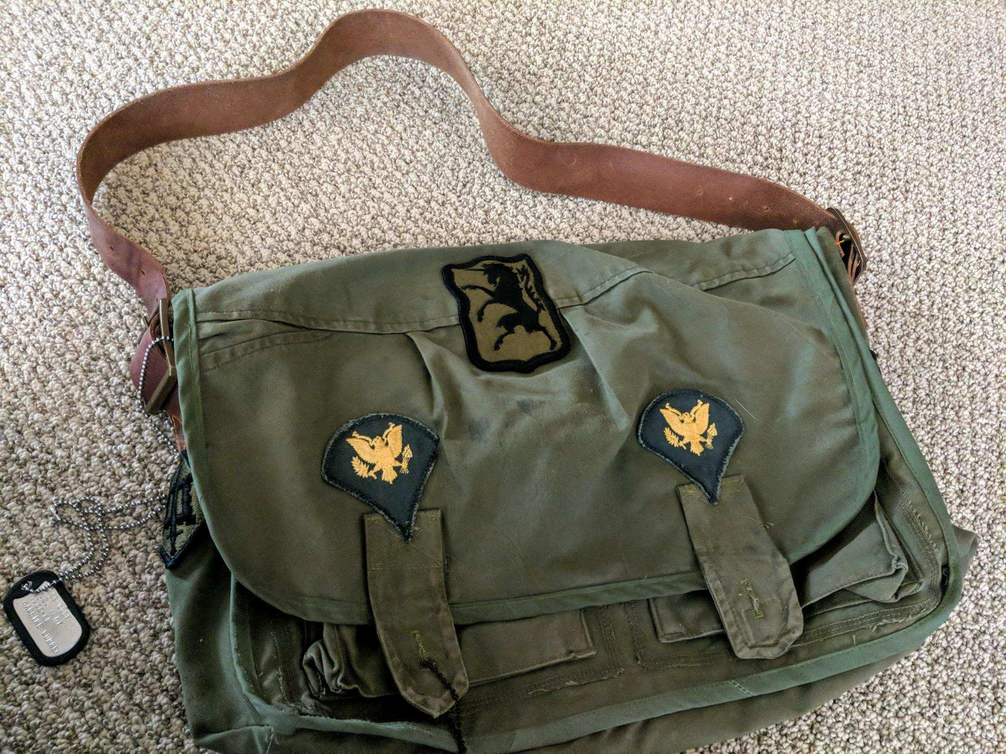 Greggor's patches added to the bag