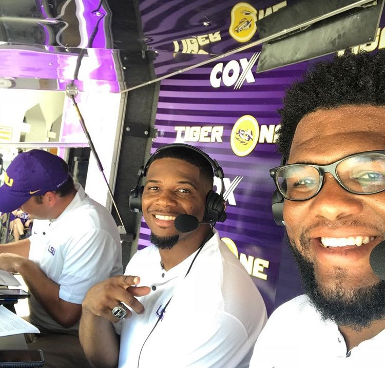 Brandon Taylor and Marlon Favorite hosting LSU Game Day.