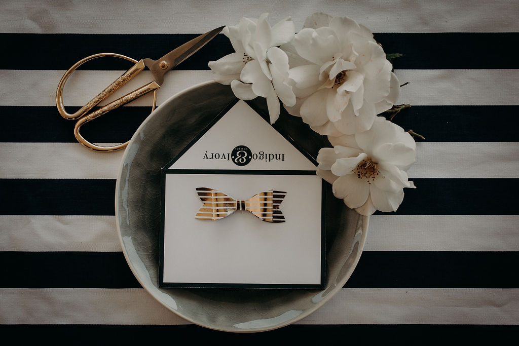 Indigo and Ivory Designs branding elements
