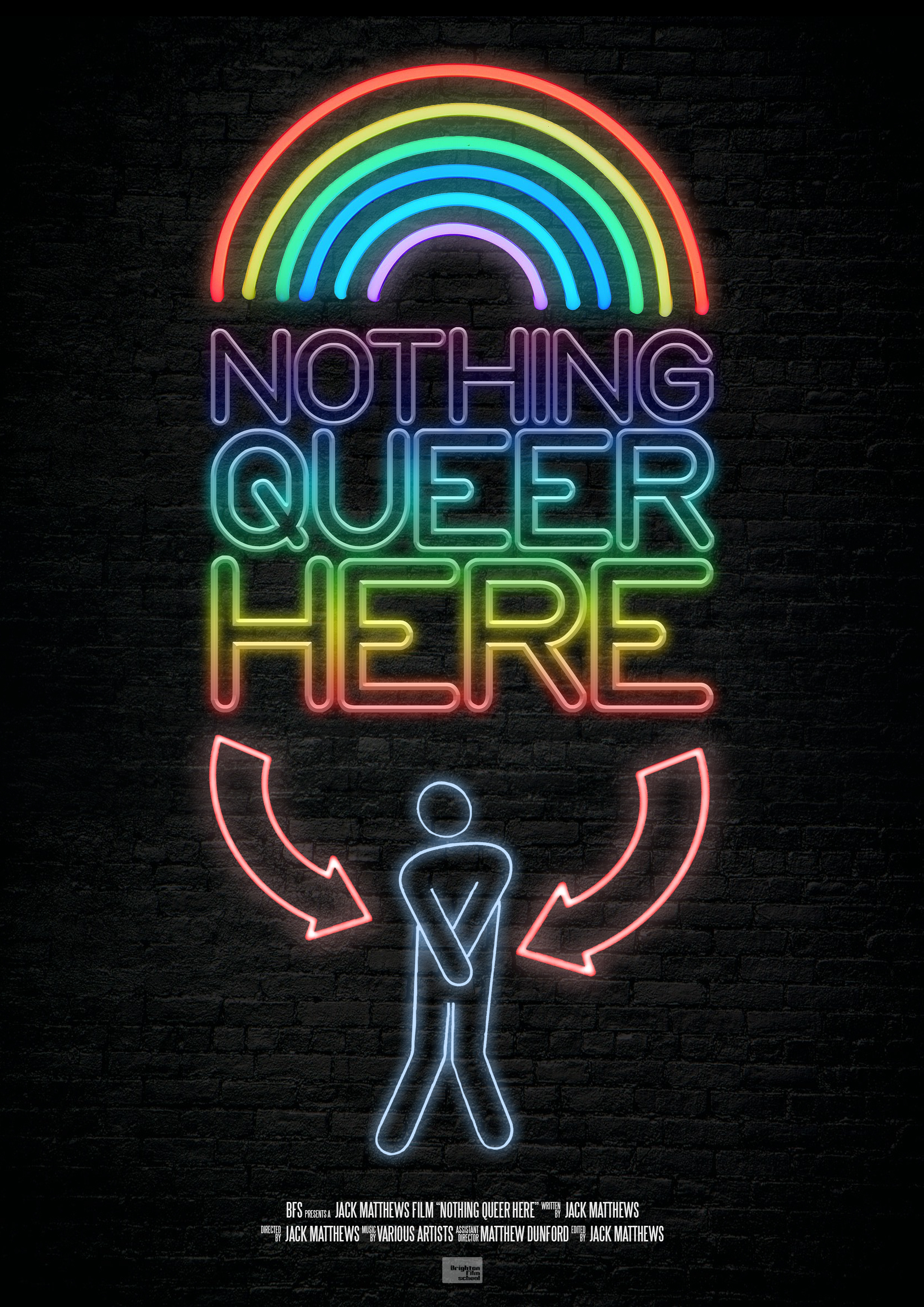 """Official Poster for """"Nothing Queer Here"""""""