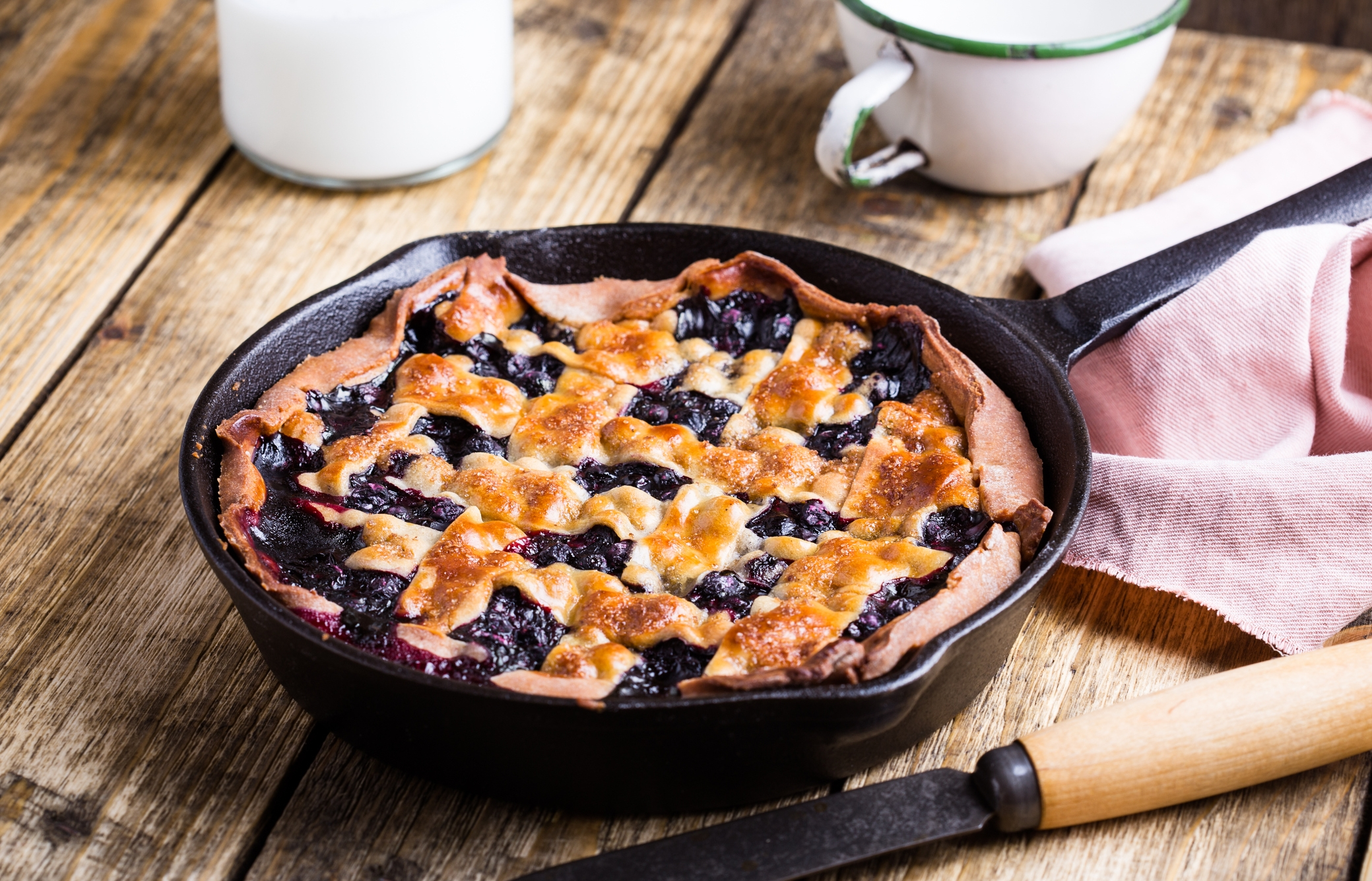 FOOD: Cast-Iron Blueberry Galette