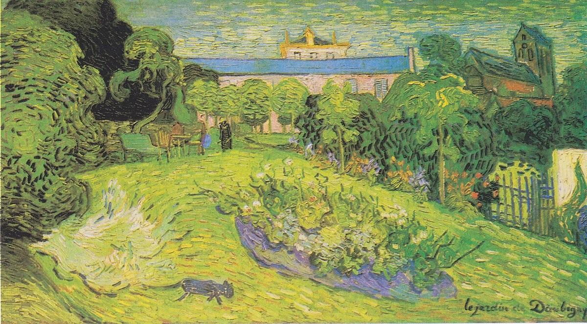 """Van Gogh, """"De tuin van Daubigny"""" (1890). Kunstmuseum van Basel"""