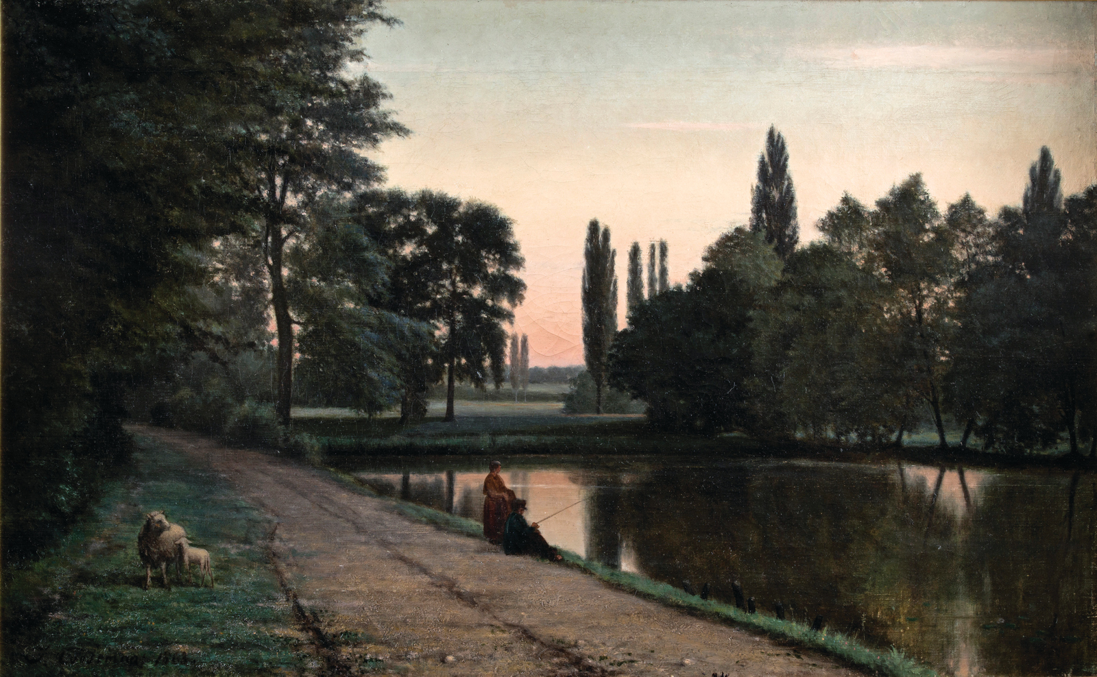 Joseph-Théodore Coosemans    (1828 Brussels-Schaerbeek 1904),    Pond at the Castle of Robiano-Tervuren   , 1863. Oil on canvas, 53.3 x 86.8 cm., Hearn Family Trust. Courtesy of the McMullen Museum of Art, Boston College