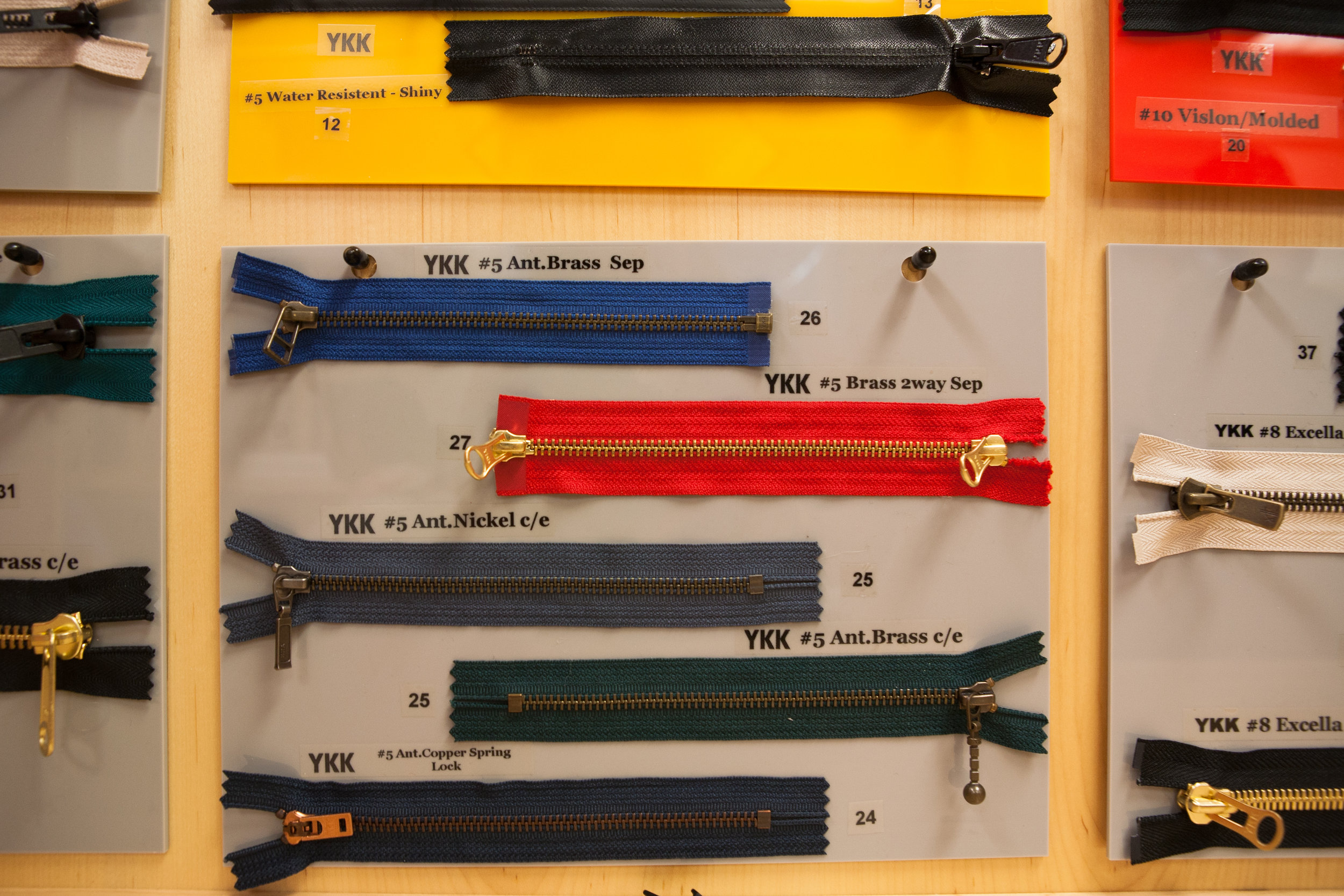 YKK Zippers at AGH Trimsource