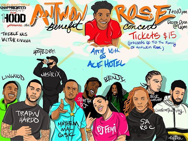 Honored to participate in this event. Antwon Rose Benefit Concert this Wednesday at @acehotelpittsburgh ticket link in my bio! All proceeds benefit the family of Antwon Rose II! Use code J4AFLASH for a $5 discount! #J4A🌹