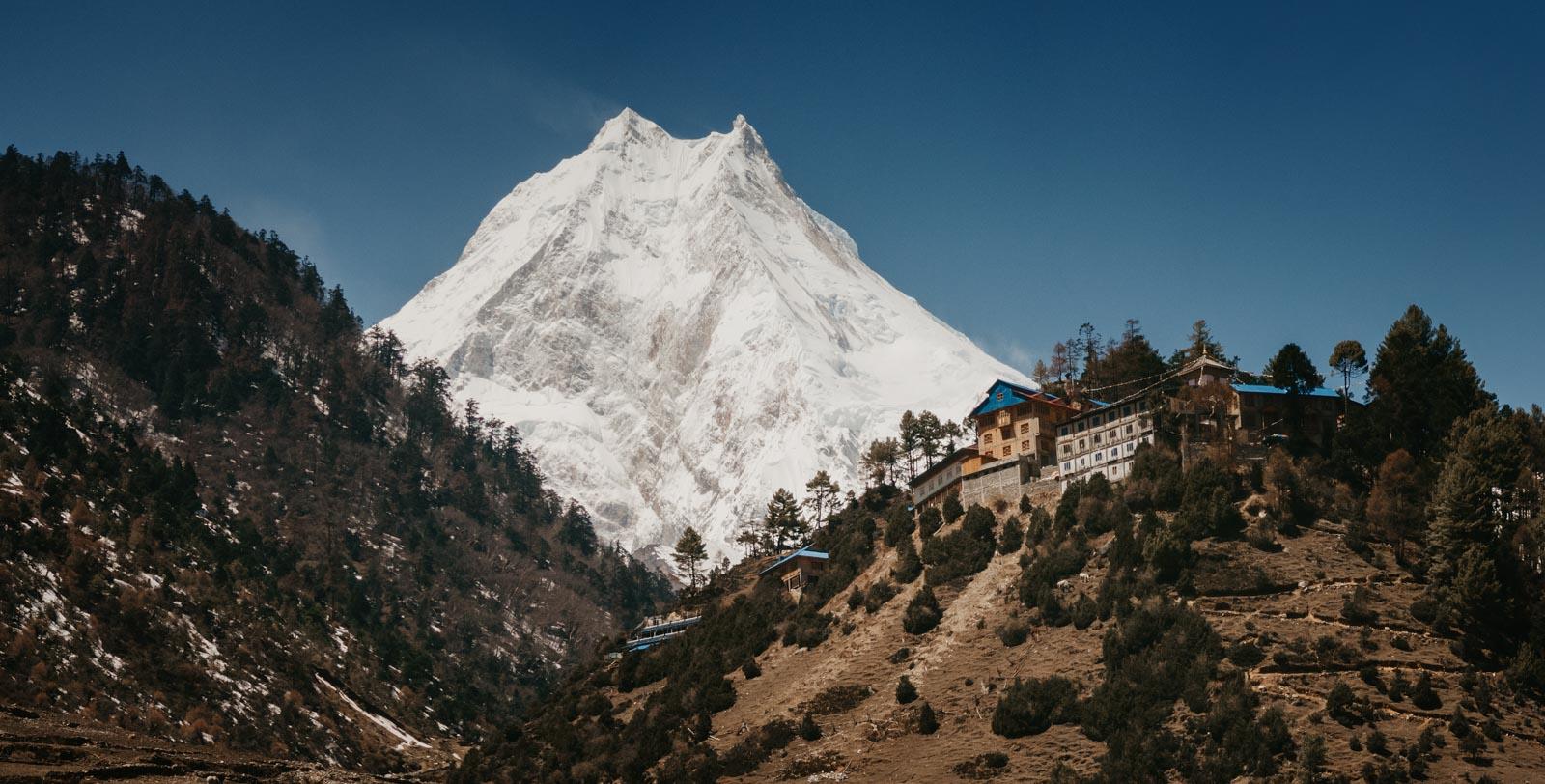 Mt. Manaslu,  8,163 metres  (26,781 ft) above sea level.