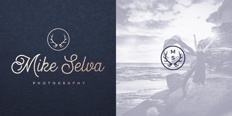Logo and icon design for Sydney, Australia photographer Mike Selva (2017).