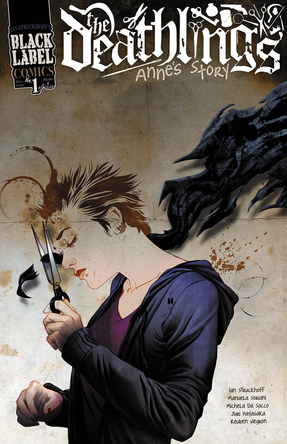 The Deathlings: Anne's Story #1, design by Ian Struckhoff, artwork by Reuben Negron