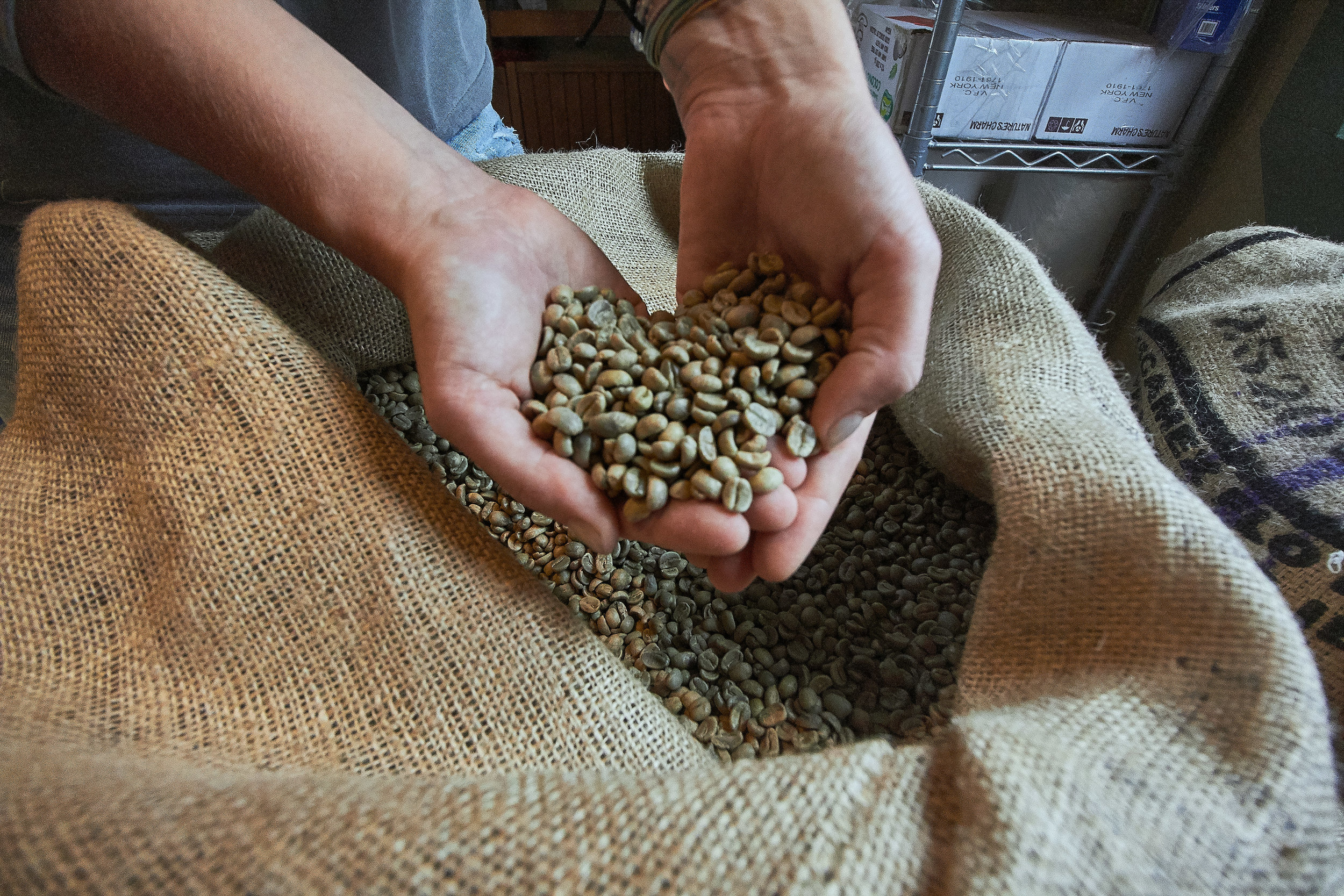 - organically grown and fairly traded coffee