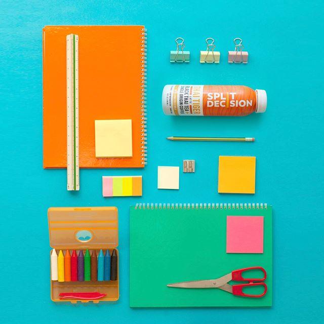 The back to school essentials: pencils, paper, Thai Tiger.  #ThaiTiger #BackToSchool
