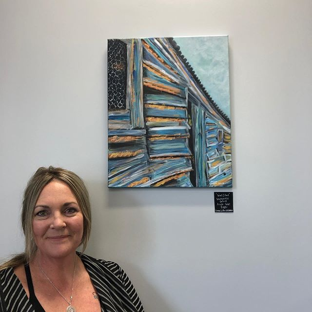 Some new artwork delivered today from @donna.coster.art and we love it! 💕Come in and check it out, they are all local landscape and rural paintings. 🚀 🚀 🚀 🚀 #nichesharedspace #coworking #sharedspace #rangiora #northcanterbury #community #collaboration  #artwork #painting