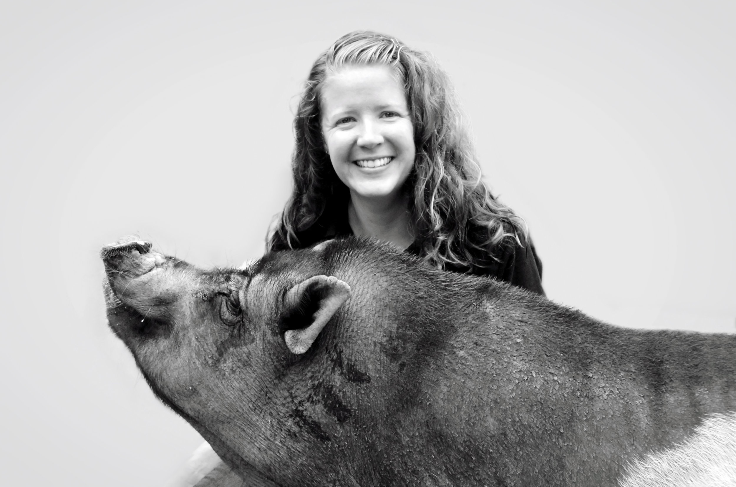 Gabrielle's love of animals, proven by her experience as a puppy raiser for The Seeing Eye, Inc., brought her to volunteer at Pony Power in 2005. From the start, Gabrielle has had a special affinity for our two pigs – Ziggy and Piper. She was asked to join the team as a full-time office manager following her 2010 graduation from Ramapo College of New Jersey where she earned a bachelor's in international studies and a minor in anthropology.