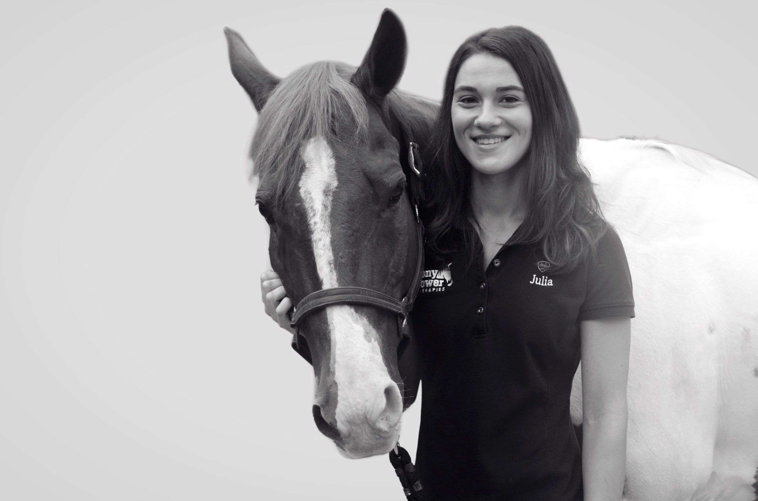 Julia came to Pony Power as a high school senior intern in 2009. Since then, Pony Power's herd has benefitted from her extensive riding and showing experience which began at age 8. After graduating Drew University in 2013, Julia joined our staff as full-time equine manager and instructor. She became a PATH International-certified instructor in 2014.