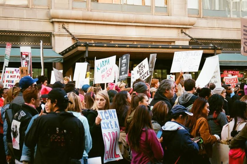 L.A. Women's March, 35mm, photographed by    Zoey Kapinos