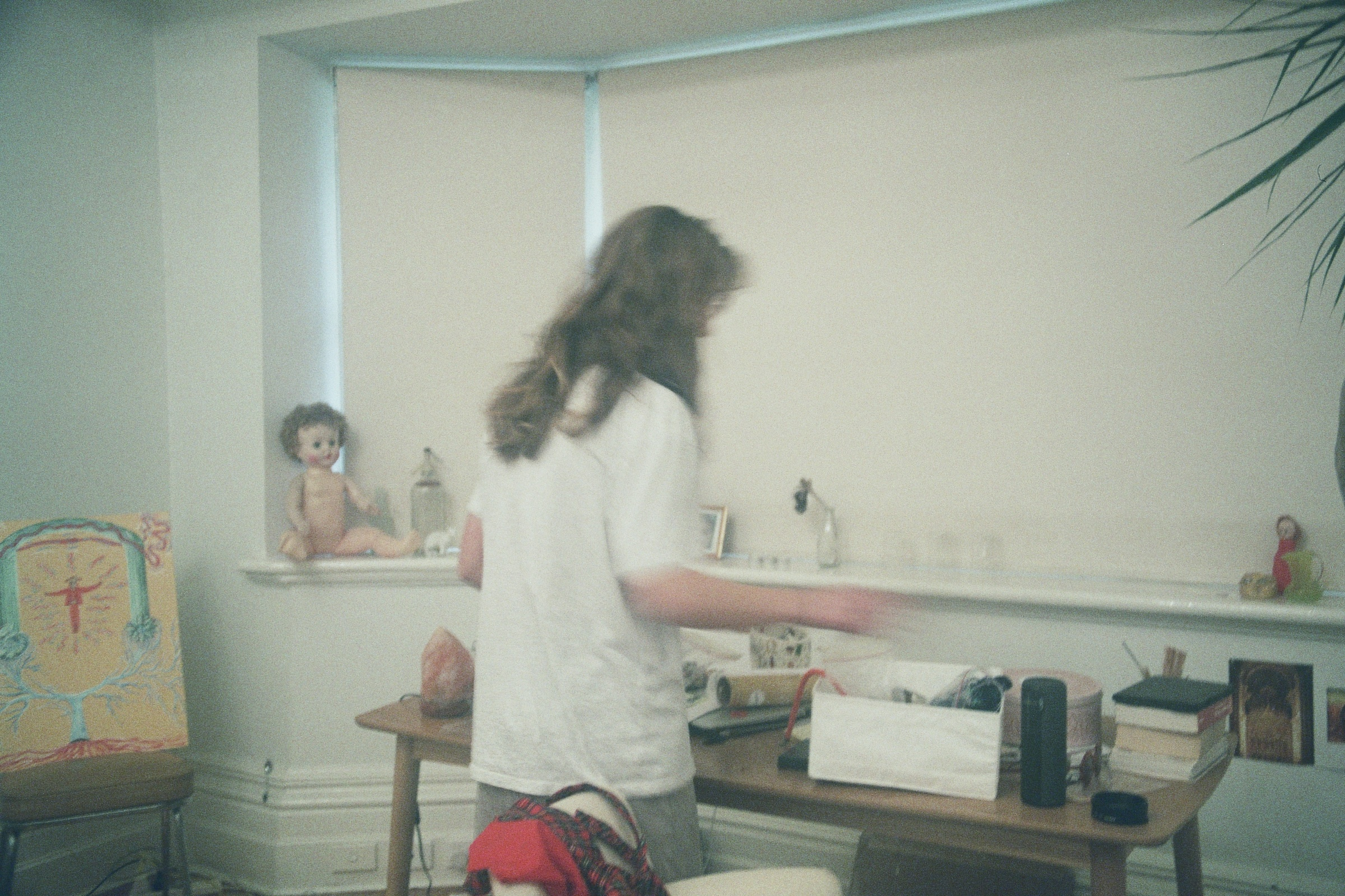 mads in her room. film by abby