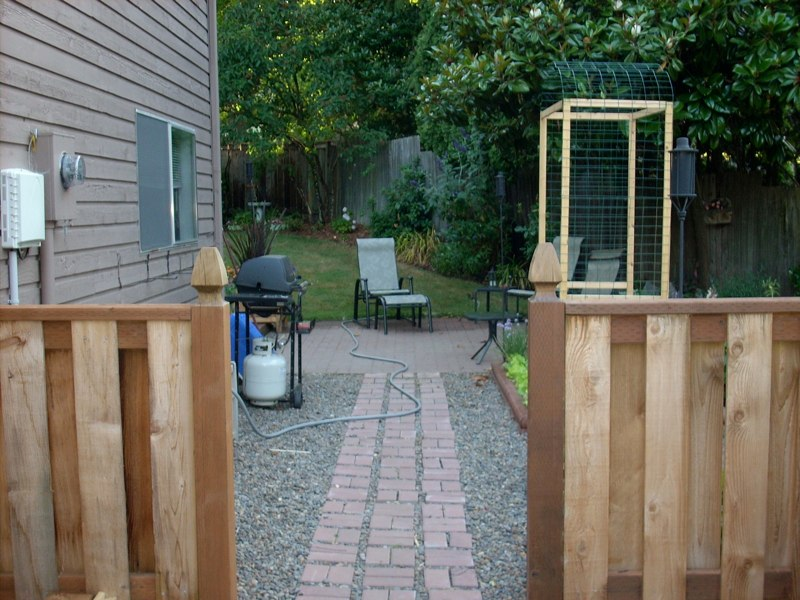 Garden Entry with Gothic Top Posts
