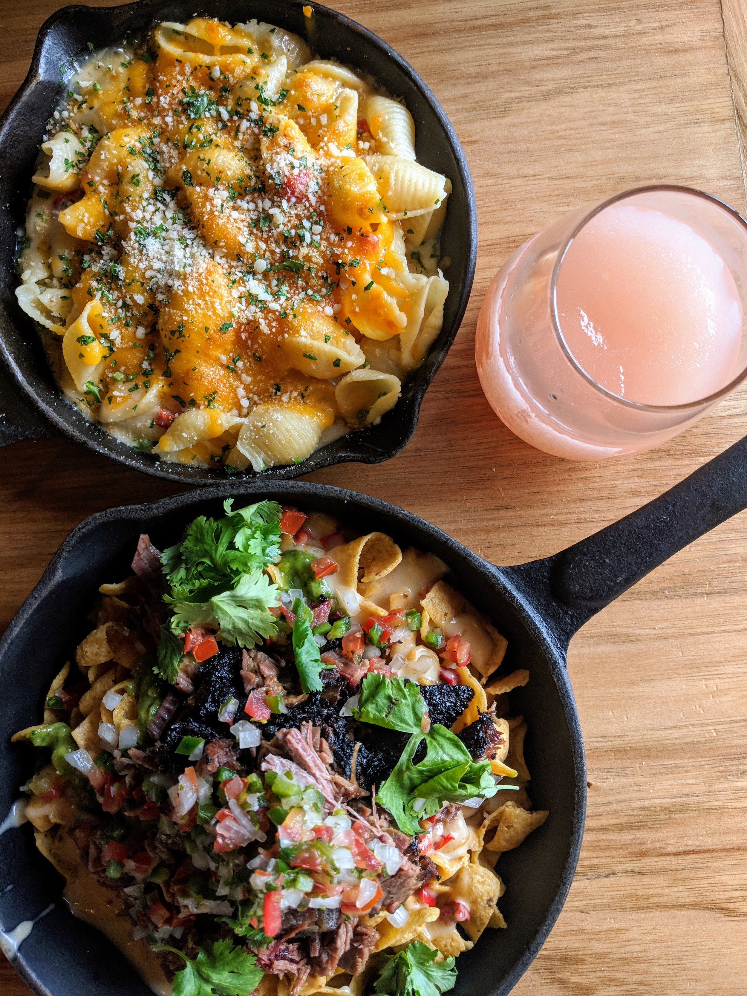 Frito pie, mac 'n' cheese, and frosé