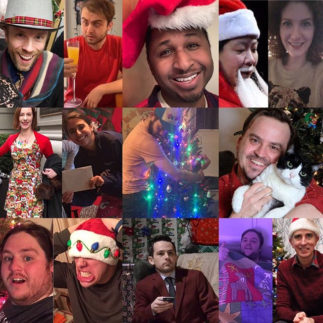 We hope that your holiday celebrations were as great as all of ours and even if they weren't we hope to make you smile in the New Year. 💙😀 #improv #sketch #indie #shot4shot #theater #friends #family #christmas #holiday #collage #create #actor #fun #comedy #theater #ny #nyc #newyork #nightlife #winter #december #2018 #2019 #tank #armory