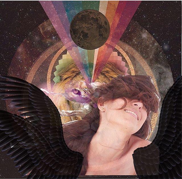 "Segundo episodio de ""Jugando al collage"" plus insomnio.  #collage #universo #cosmos #ser"