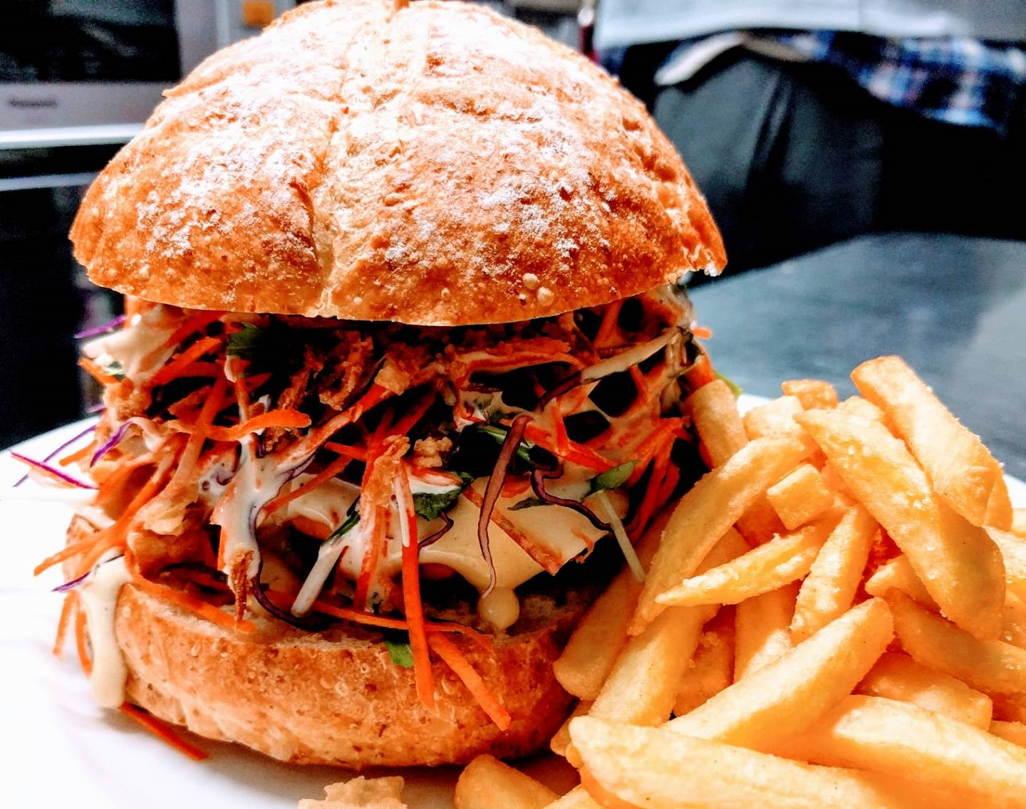 The one and only Mad Cow Burger available at Madarao Mountain Lodge