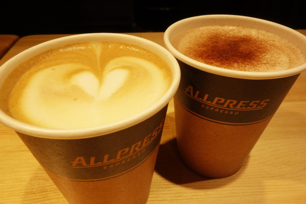 Aki's uses quality Allpress beans in their coffee!
